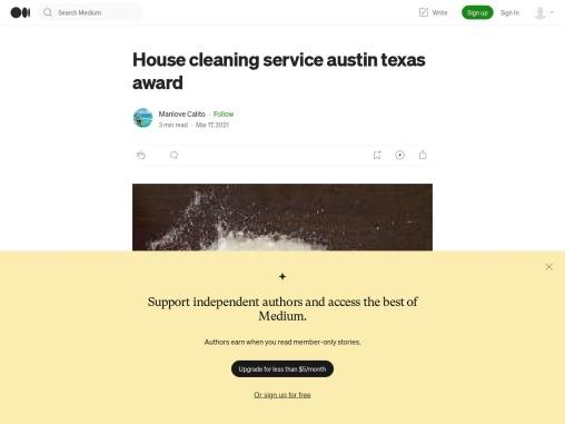 House cleaning service austin texas award