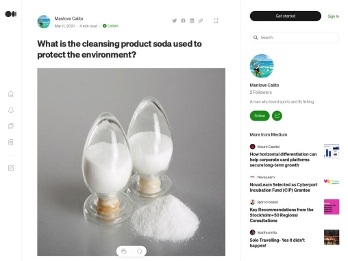 What is the cleansing product soda used to protect the environment