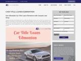 Get car title loans in Edmonton