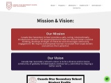 Our Mission & Vision at Canada Star Secondary School