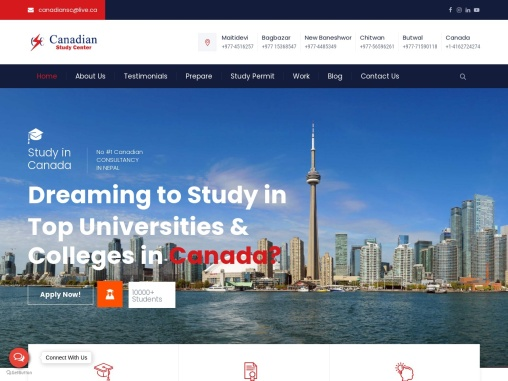 Canadian Study Center   Consultancy In Nepal For Canada