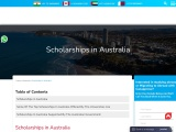 Scholarships in Australia is provided