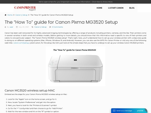 """The """"How To"""" guide for Canon Pixma MG3520 Setup"""