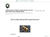 How To Make Money With Capital Street Fx