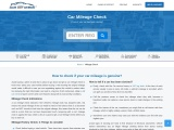 how to check your car mileage online