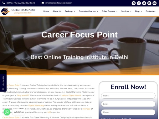Top 10 Digital Marketing Company in Delhi| Career Focus Point