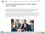 """All new employment proposals in France """"greater ones in 10 years"""""""