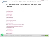 20 Top Universities In France Which Are World Wide Famous