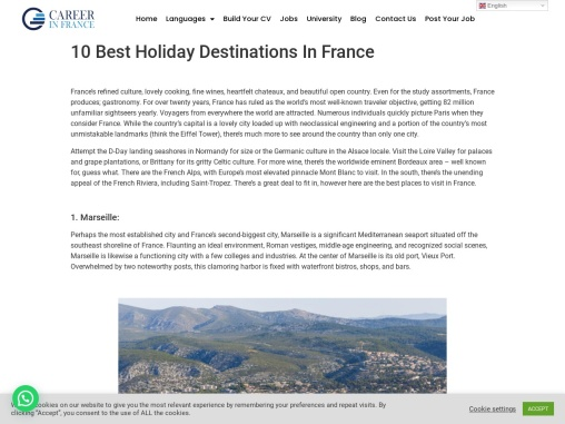 10 Best Holiday Destinations In France