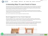 6 Interesting Ways To Learn French In France