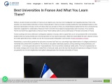 Best Universities In France And What You Learn There?
