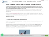 How to Learn French in France With Native Accent?