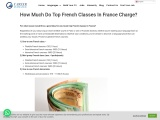 How Much Do Top French Classes In France Charge?