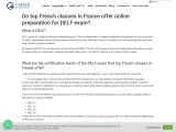 Do top French classes in France offer online preparation for DELF exam?