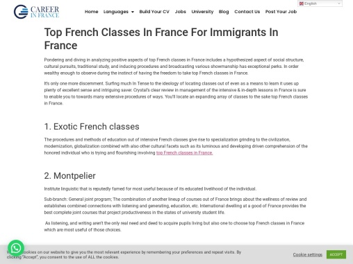Top French Classes In France For Immigrants In France