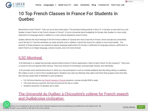 10 Top French Classes In France For Students in Quebec!