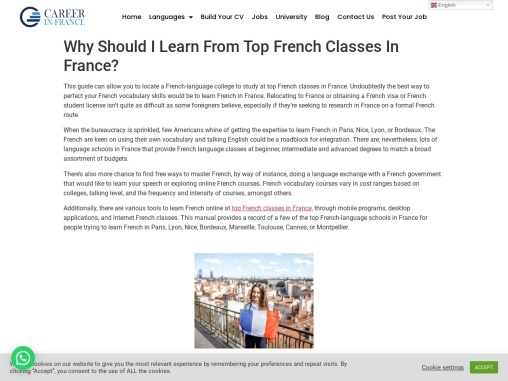 Why Should I Learn From Top French Classes In France?