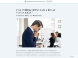 CAN INTROVERTS LEAD A TEAM TO SUCCESS?