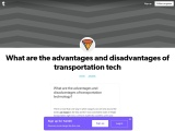What are the advantages and disadvantages of transportation technology?