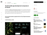Top 30 Mobile App Development Companies in the world