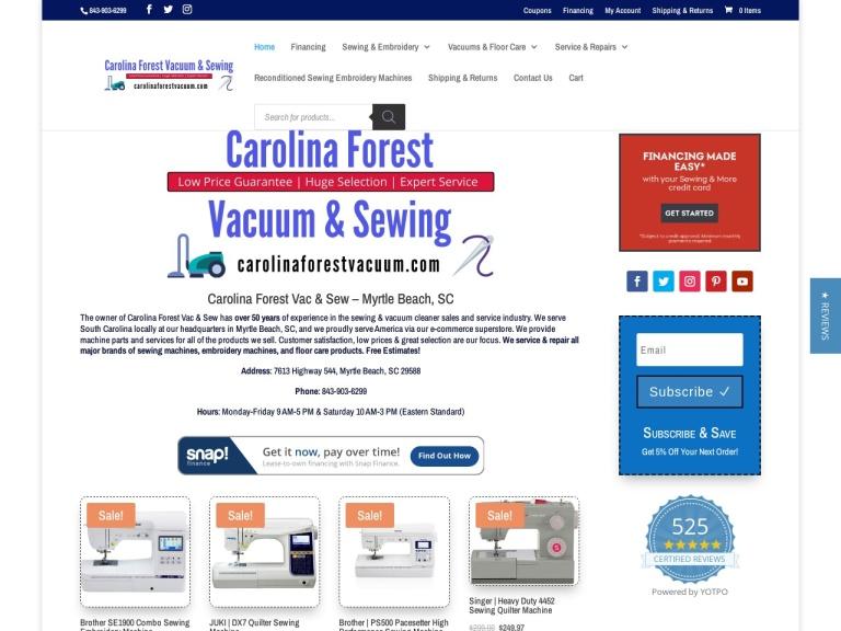 Carolina Forest Vacuum Coupon Codes