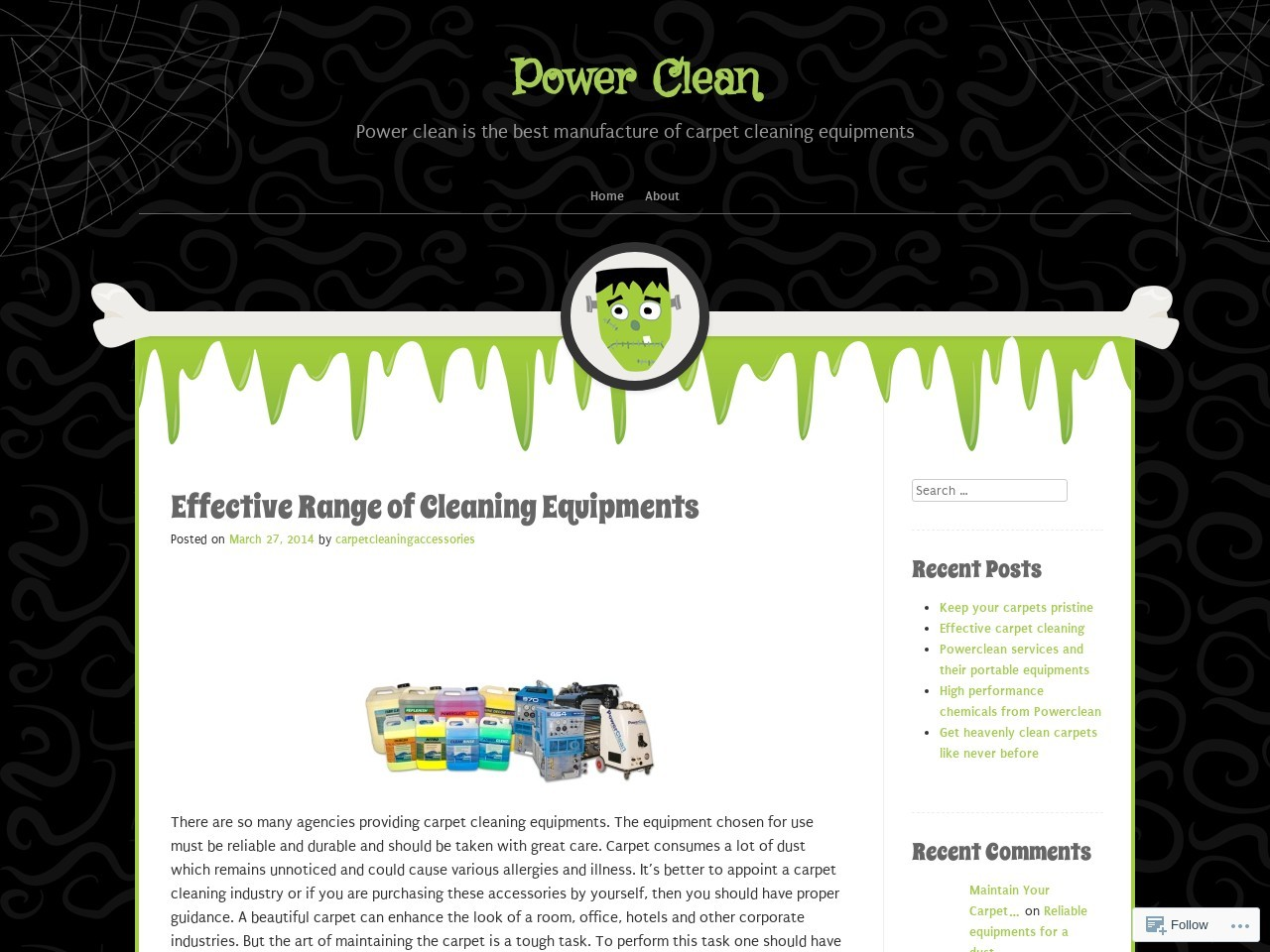 Effective Range of Cleaning Equipments | Power Clean