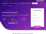 Hire Dedicated Shopify Designer Services