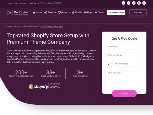 Shopify Custom Theme Setup Services – CartCoders