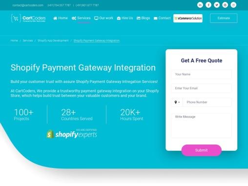 Best Shopify Payment Gateway Integration Service Provider