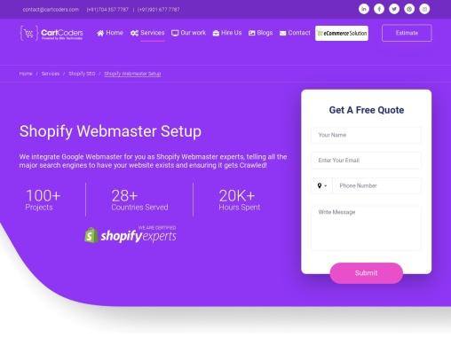 Shopify Webmaster Setup Experts
