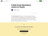 Shopify Multivendor Marketplace Services Company