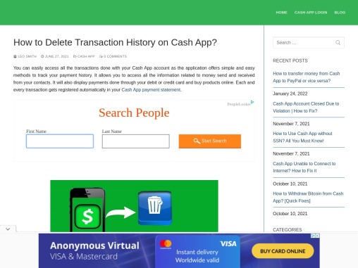 How to delete transaction history on Cash App?
