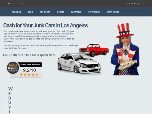 Junk Car Buyer in Southern California