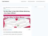 The Best Way To Start With Affiliate Marketing