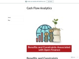 Benefits and Constraints Associated with Open Finance