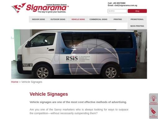 Vehicle Signages   Magnetic Advertising   CBD.Signarama-Sea, Singapore