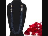 BLUE CRYSTAL MALA-Elegant Heritage