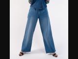 HI RISE WIDE LEG FULL LENGTH JEANS- women's wear