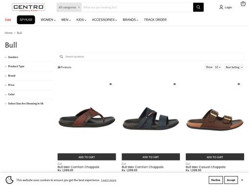 Buy Bull Men Black Casual Shoe