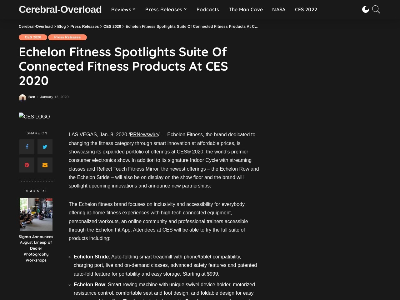 Echelon Fitness Spotlights Suite Of Connected Fitness Products At CES 2020