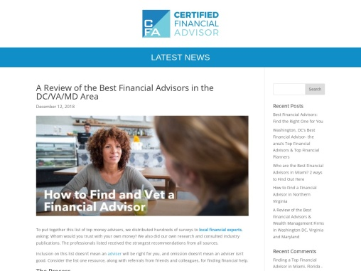 A Review of the Best Financial Advisors