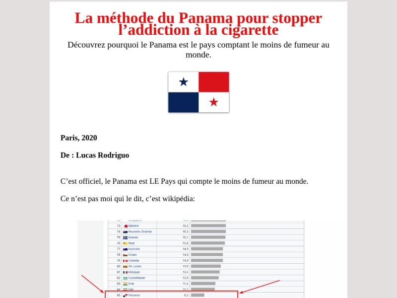 la methode panama pour arreter de fumer