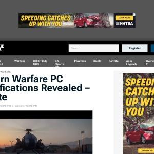 Modern Warfare PC Specifications Revealed - Update | Charlie INTEL