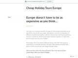 Europe doesn't have to be as expensive as you think