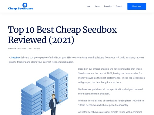What are the best Cheap Seedboxex Available?