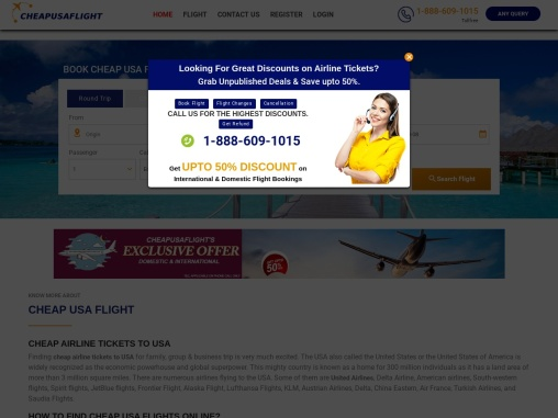 vacation deals with cheapusaflight and get upto 40% off on all flight