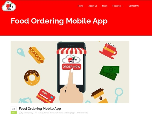 Food Ordering Mobile App – Cherry Berry RMS