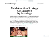 Child Adoption Strategy in Astrology – Adopt a Baby According to Horoscope