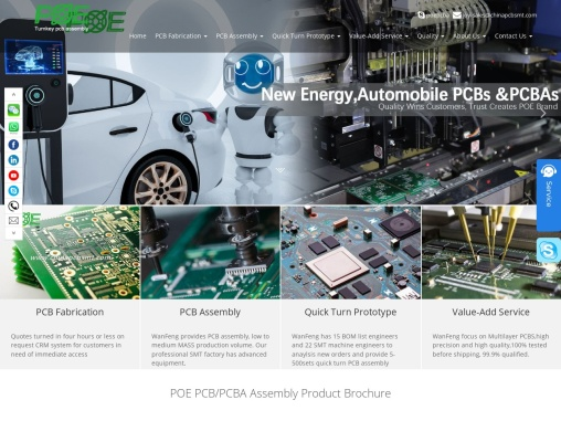 printed circuit board manufacturer POE PCB