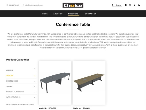 Conference table Manufacturers in India – Choice furntech